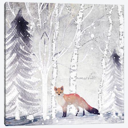 Mr. Winterfox Canvas Print #GEL46} by Monika Strigel Canvas Artwork