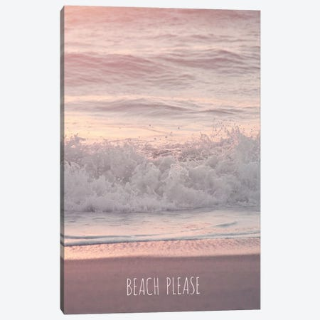 Beach Please Canvas Print #GEL52} by Monika Strigel Canvas Artwork