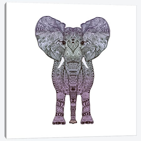 Purple Elephant Canvas Print #GEL56} by Monika Strigel Canvas Print