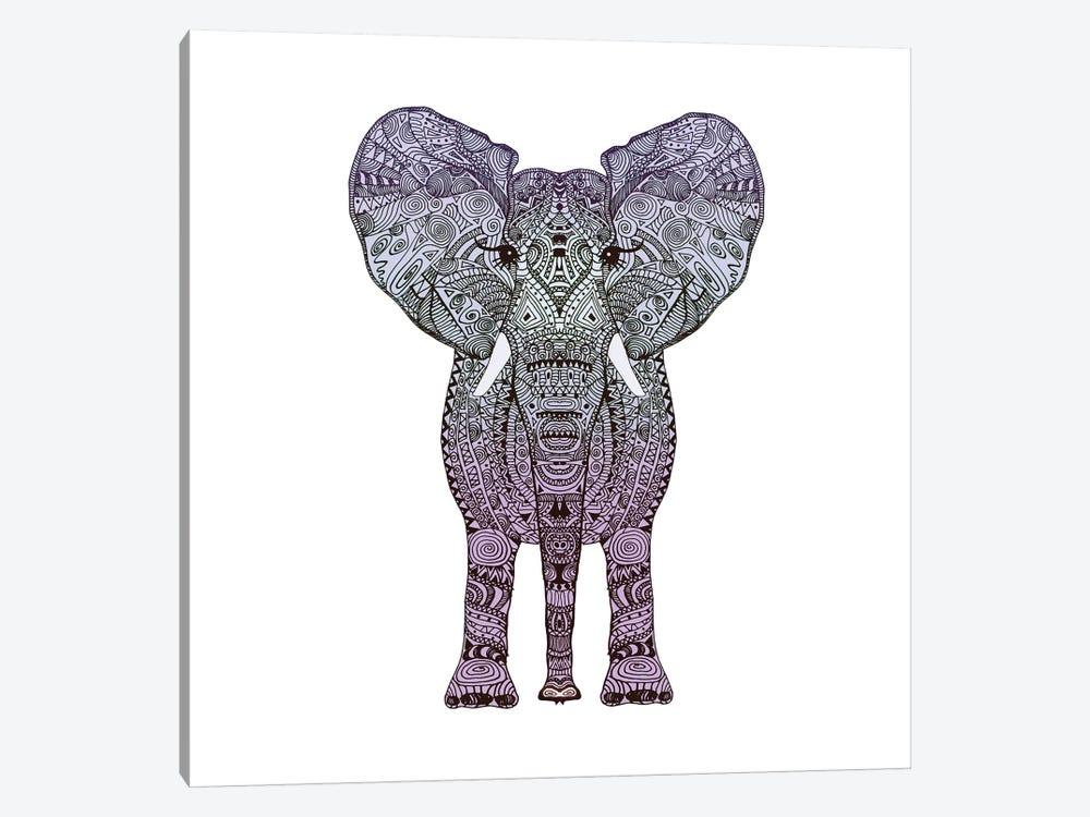 Purple Elephant by Monika Strigel 1-piece Canvas Artwork