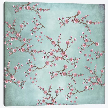 Sakura - Love Grey Canvas Print #GEL59} by Monika Strigel Canvas Artwork