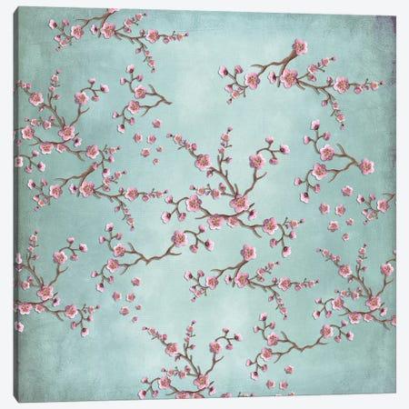 Sakura - Love Grey Canvas Print #GEL59} by Monika Strigel Canvas Artwork