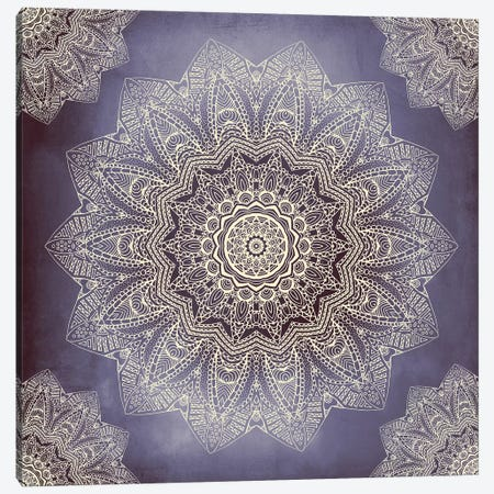 Serendipity - Indigo And Cream Canvas Print #GEL61} by Monika Strigel Art Print