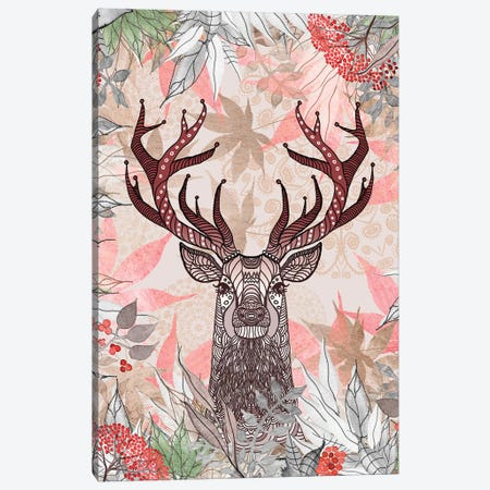 Silver Stag Canvas Print #GEL64} by Monika Strigel Canvas Artwork