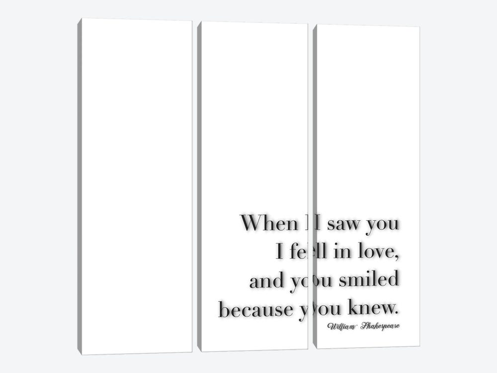 When I Saw You - Shakespeare by Monika Strigel 3-piece Art Print