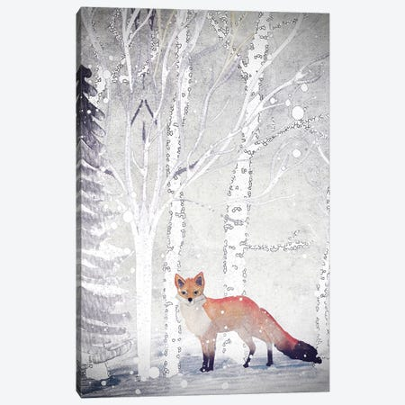 Mr. Winterfox II 3-Piece Canvas #GEL74} by Monika Strigel Canvas Print