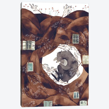 Forest Bear Canvas Print #GEM10} by Gemma Capdevila Canvas Print