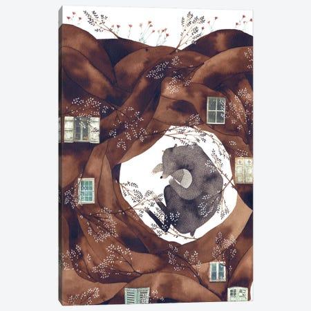 Forest Bear Canvas Print #GEM10} by Gemma Capdevila Canvas Print