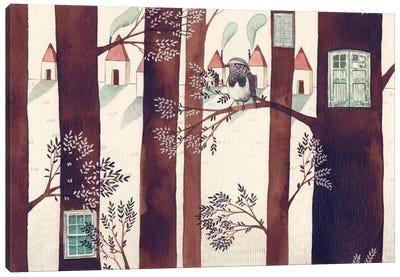 Forest Bird Canvas Art Print