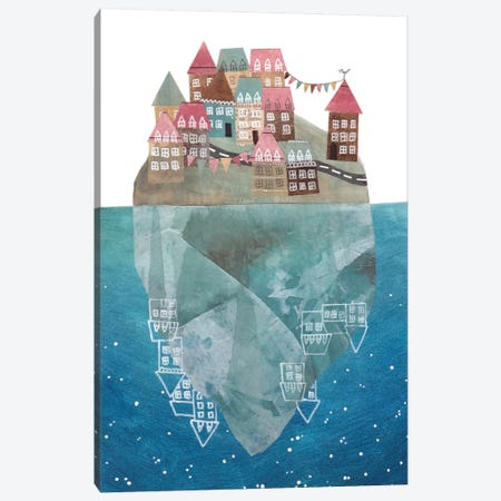 Iceberg Island Canvas Print #GEM17} by Gemma Capdevila Canvas Art