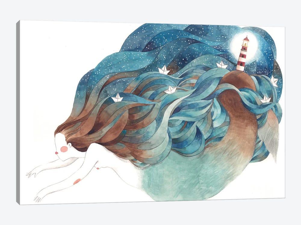 Light House Mermaid by Gemma Capdevila 1-piece Canvas Print