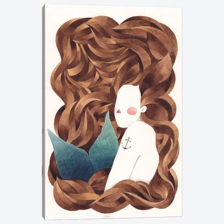 Mermaid Canvas Print #GEM24} by Gemma Capdevila Art Print