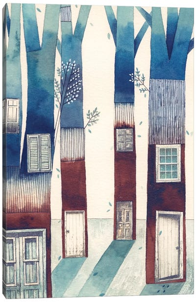 Tree House Canvas Print #GEM31