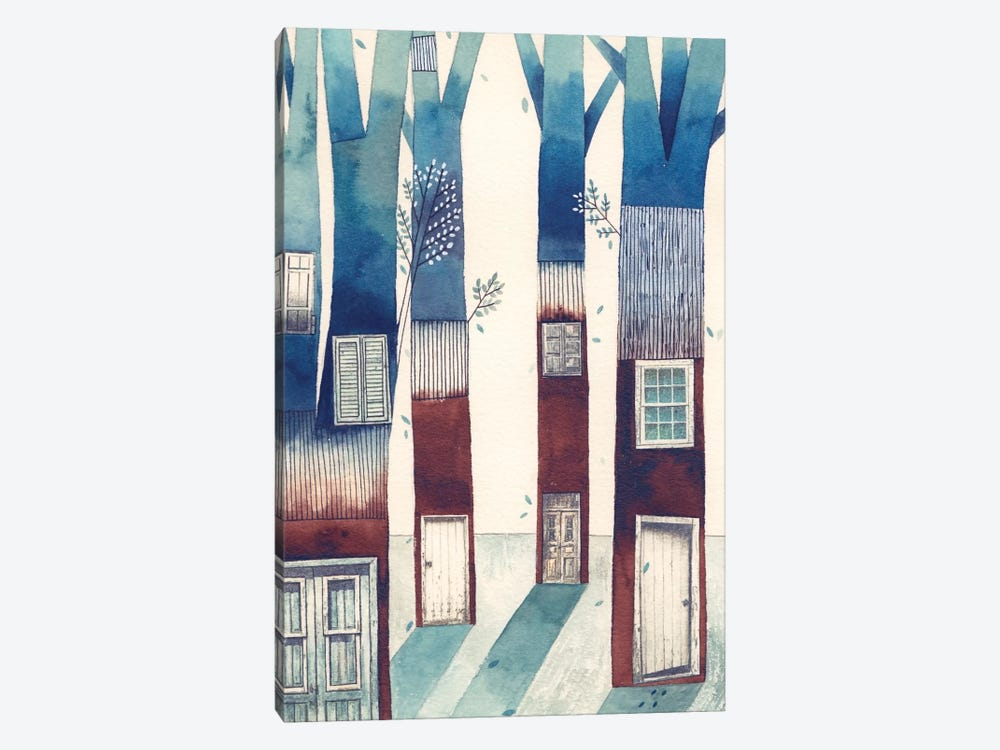 Tree House by Gemma Capdevila 1-piece Canvas Art