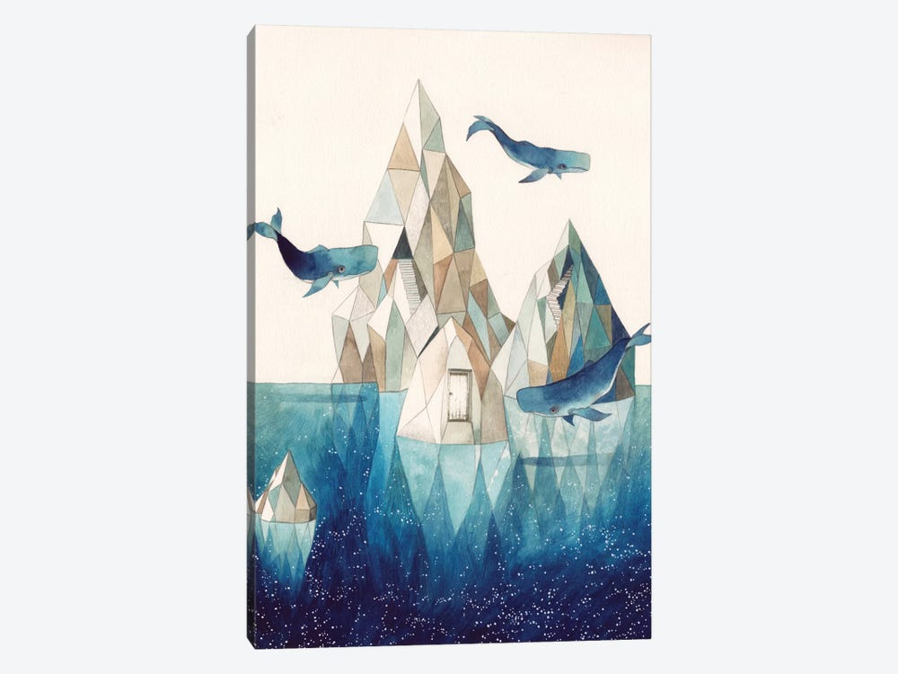 Whale Iceberg by Gemma Capdevila 1-piece Canvas Art