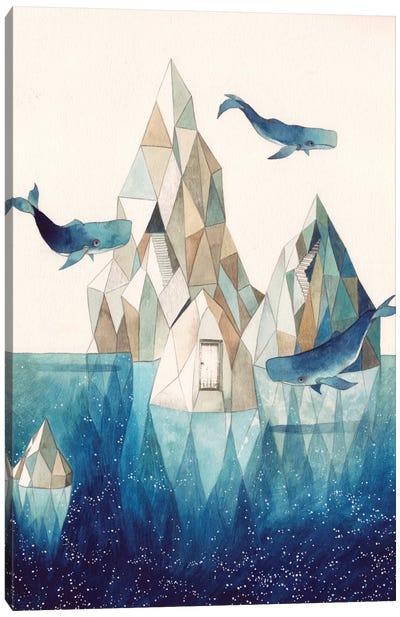 Whale Iceberg Canvas Art Print
