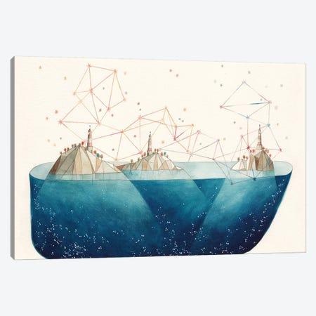 Light House Island Canvas Print #GEM38} by Gemma Capdevila Canvas Art Print