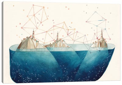 Light House Island Canvas Art Print