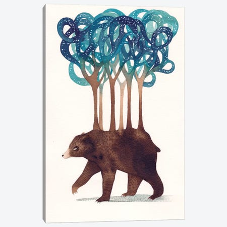 Constellation Bear Canvas Print #GEM4} by Gemma Capdevila Canvas Art Print