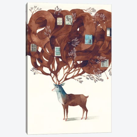 Deer Canvas Print #GEM6} by Gemma Capdevila Canvas Print