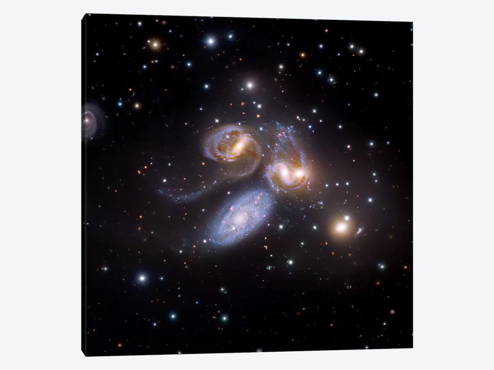 Stephan's Quintet, Compact Galactic Group In Pegasus Composite Image by Robert Gendler 1-piece Canvas Wall Art