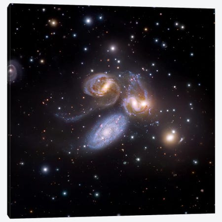 Stephan's Quintet, Compact Galactic Group In Pegasus Composite Image Canvas Print #GEN104} by Robert Gendler Canvas Artwork