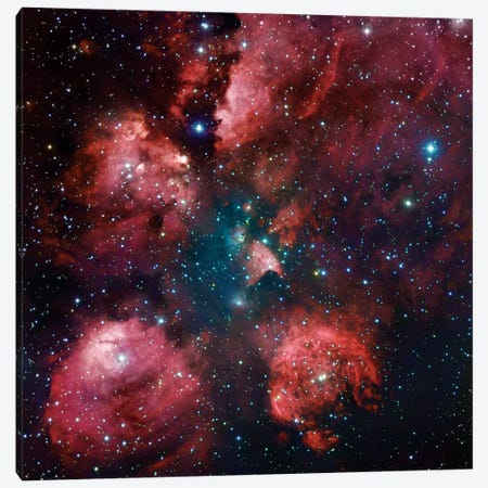 The Cat Paw Nebula (NGC 6334) Canvas Print #GEN105} by Robert Gendler Canvas Artwork