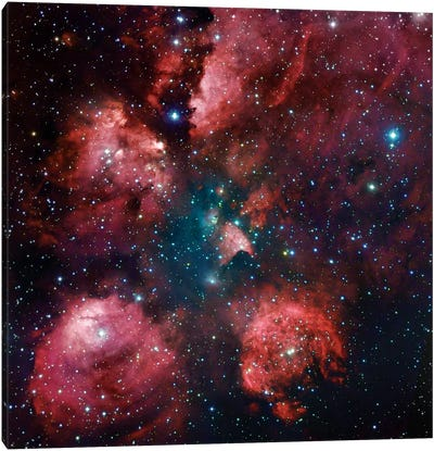 The Cat Paw Nebula (NGC 6334) Canvas Art Print