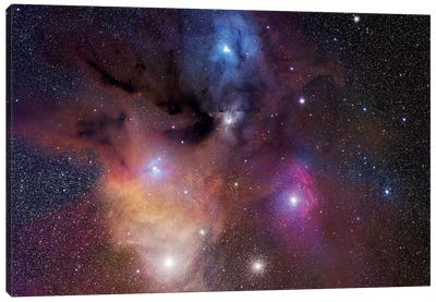 The Rho Ophiuchi Nebula Mosaic Canvas Art Print