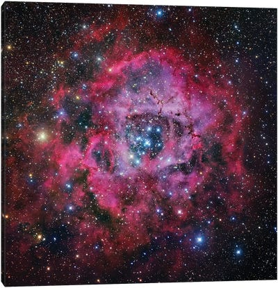 The Rosette Nebula In Monoceros Mosaic Canvas Art Print