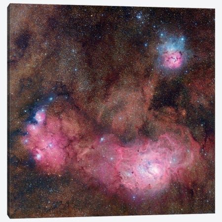 The Sagittarius Triplet Composite Image Canvas Print #GEN113} by Robert Gendler Canvas Wall Art