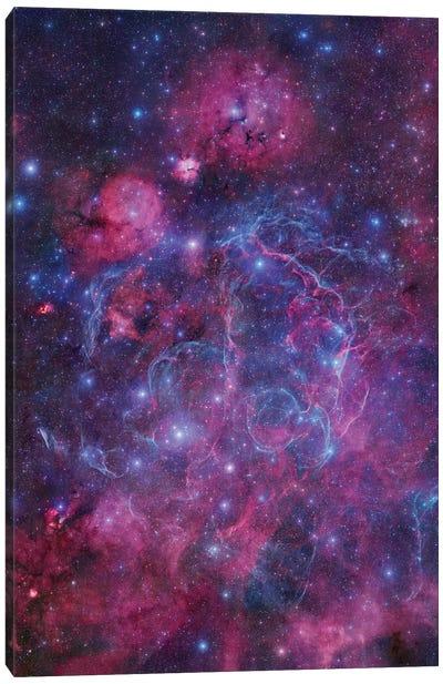 Vela Supernova Remnant Mosaic I Canvas Art Print