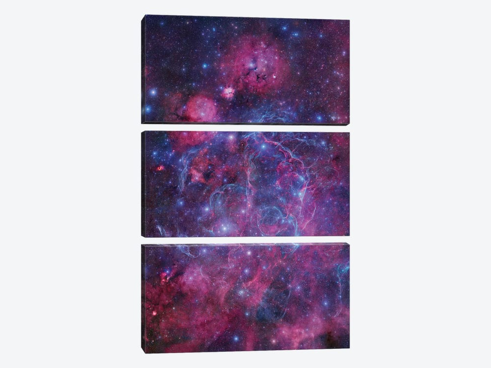 Vela Supernova Remnant Mosaic I by Robert Gendler 3-piece Canvas Art