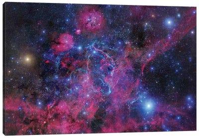 Vela Supernova Remnant Mosaic II Canvas Art Print