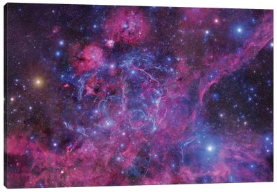 The Vela Supernova Remnant Canvas Art Print