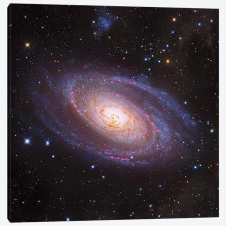 M81 Spiral Galaxy In Ursa Major III 3-Piece Canvas #GEN154} by Robert Gendler Canvas Art Print