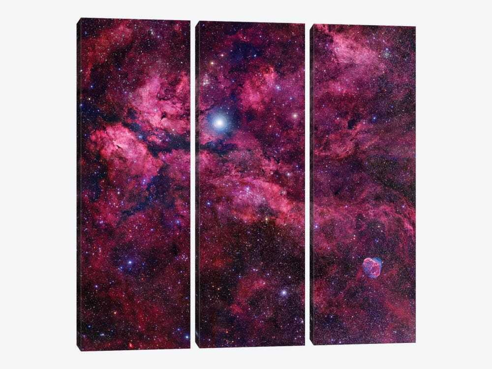 Cygnus Mosaic II by Robert Gendler 3-piece Canvas Print