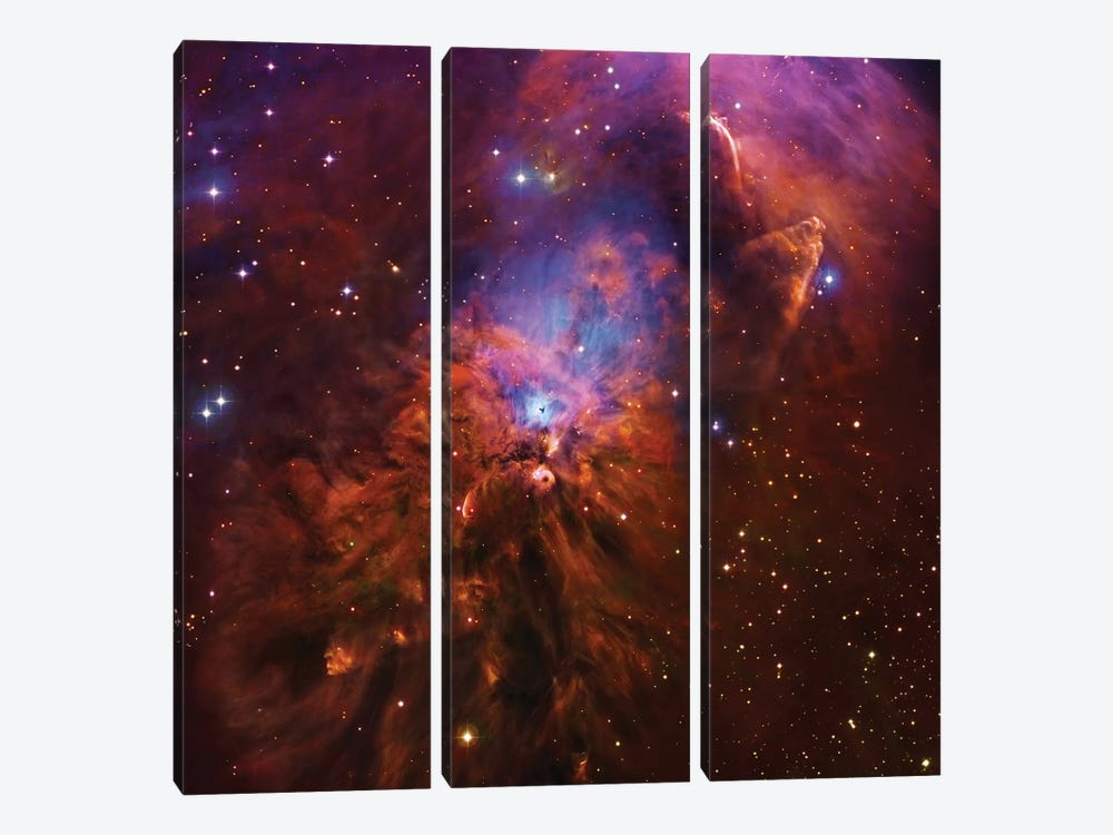 Emission & Reflection Nebula In Orion (NGC 1999) II by Robert Gendler 3-piece Canvas Art Print
