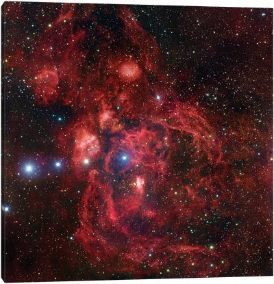 Emission Complex In Scorpius (NGC 6357) Canvas Art Print