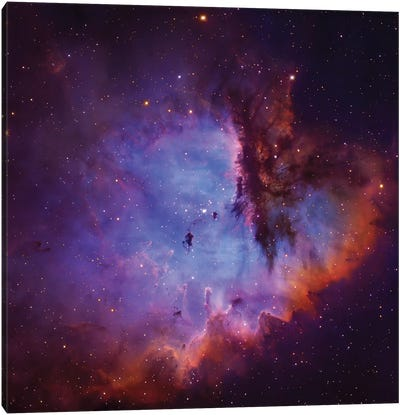 Emission Nebula and Open Cluster in Cassiopeia (NGC 281) Canvas Art Print