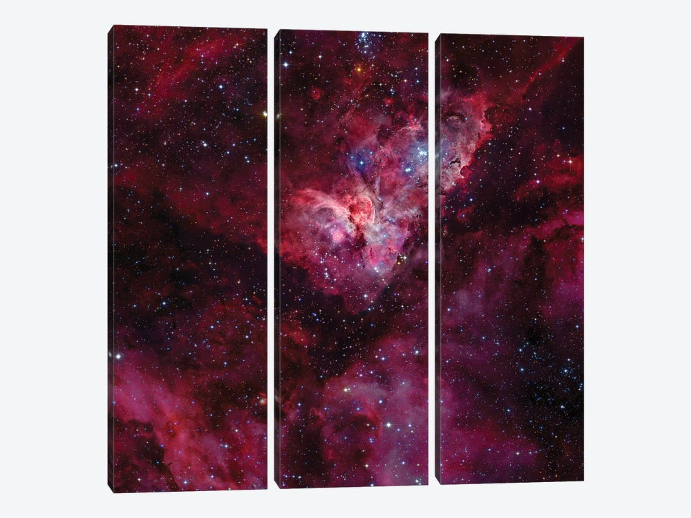 Eta Carinae Nebula (NGC 3372) II by Robert Gendler 3-piece Canvas Art Print