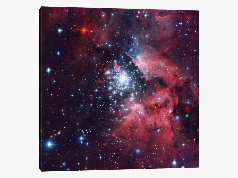 Giant HII Cloud And Its Massive Cluster HD97950 (NGC 3603) by Robert Gendler 1-piece Canvas Art Print