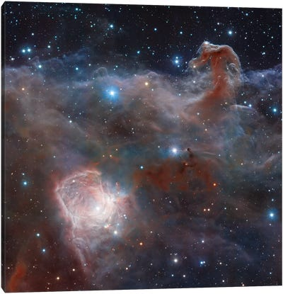 Horsehead Nebula Region In Infrared Light Canvas Art Print