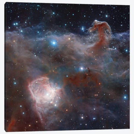 Horsehead Nebula Region In Infrared Light Canvas Print #GEN31} by Robert Gendler Canvas Wall Art