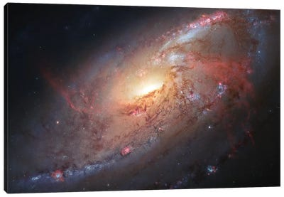 M106, Spiral Galaxy In Canes Venatici II Canvas Art Print