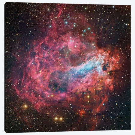M17, Swan, Omega, Horseshoe, Lobster Nebula (NGC 6618) Canvas Print #GEN42} by Robert Gendler Canvas Art Print