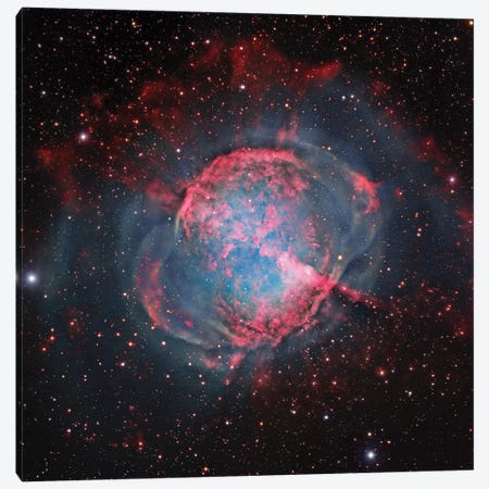 M27, The Dumbbell Nebula (NGC 6853) Canvas Print #GEN45} by Robert Gendler Canvas Art