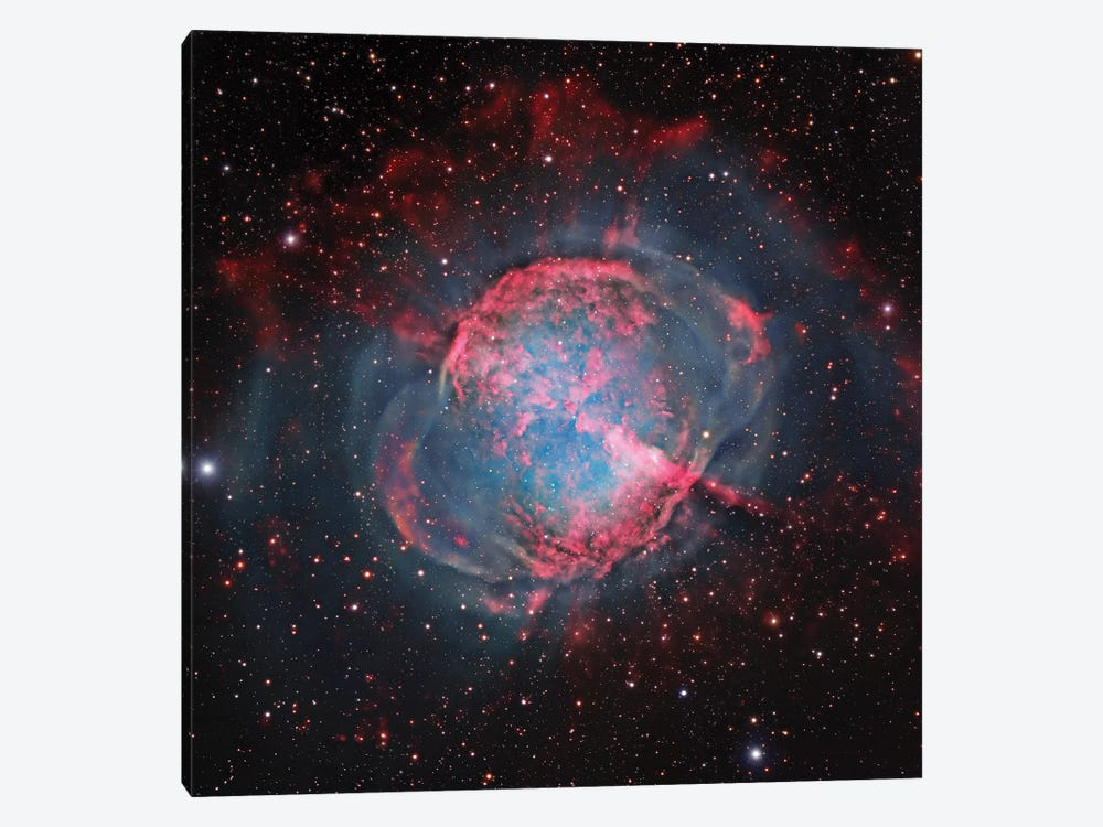 M27, The Dumbbell Nebula (NGC 6853) 1-piece Art Print