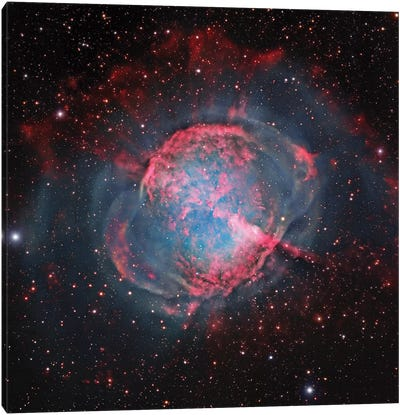 M27, The Dumbbell Nebula (NGC 6853) Canvas Art Print
