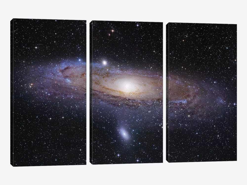 M31, Andromeda Galaxy Mosaic I by Robert Gendler 3-piece Canvas Art Print
